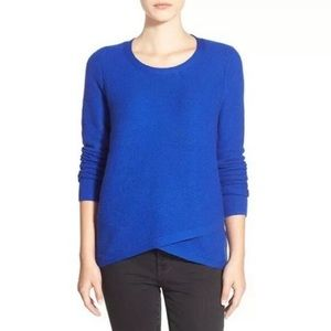 Madewell  Feature Royal Blue Knit Layered Sweater